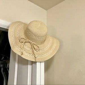 Floppy Straw Hat Beach Pool Bikini Vacation Sun